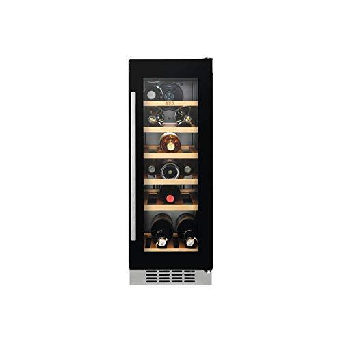 AEG SWE63001DG Built-in Under Counter 18 Bottle Wine Cellar For Optimal Wine Storage - Black Framed Glass Door