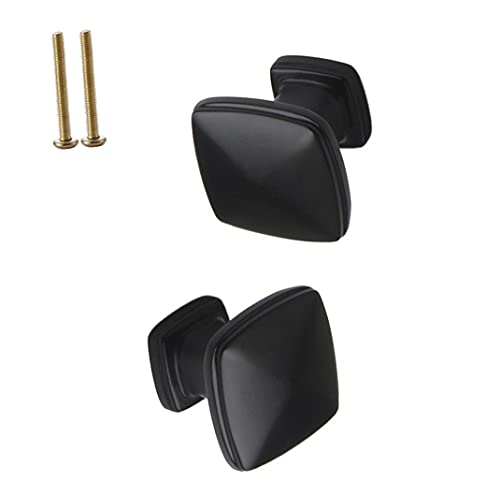 DTXZM Maniglie Cucina 2 Pezzi/Quadrato con per Maniglie Mobili Ante Maniglia Dressser Pomelli Manopole Nere Cassetti dell'Armadio