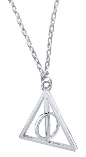 Deathly Hallows Silver Turnable Rotating Spins Alloy Necklace