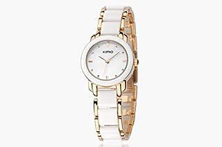 Eyki Kimio Ladies Ceramic Luxury Bracelet Watches with Ceramic fine steel strap K445L-white
