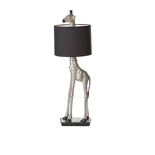 Casablanca Lampe Giraffe - aus Poly silberfarben im Antikfinish H 87 cm