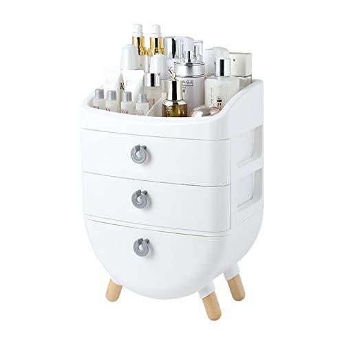 AZYJBF Organizador de Brochas de Maquillaje, Organizador de Almacenamiento de Cosméticos con Cajón, Gran Capacidad, No Necesita Montaje