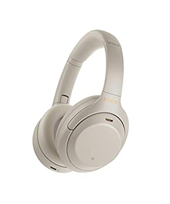 Sony WH-1000XM4 Noise Cancelling Wireless Headphones - 30 hours battery life - Over Ear style - Optimised for Alexa and the Google Assistant - with built-in mic for phone calls - Silver from Sony