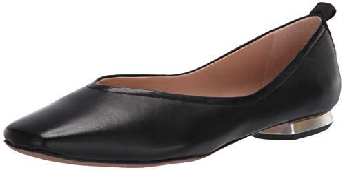 Franco Sarto Women's Ailee Ballet Flat, Black Leather, 9.5 M US
