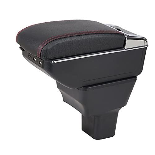 Caja Apoyabrazos Coche para Caja Reposabrazos Nissan Versa Almera 2020-2021 Caja Almacenamiento Reposabrazos Consola Central Coche con USB Apoyabrazos Central Automóvil