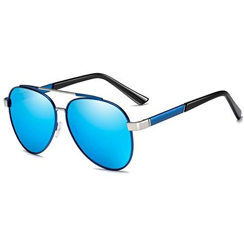 SUIBIAN Gafas de Sol polarizadas para Hombre, Gafas de Sol clásicas de conducción de Metal para Hombre, Gafas de Sol con Revestimiento, Gafas UV400