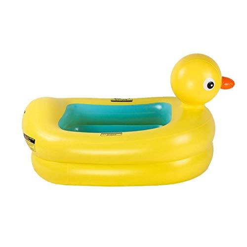 RMXMY Baby aufblasbarer Pool - Sicherheit geprüft Auslaufsichere Kleinkinder Kleinkinder Kinder Taillenring Poolspielzeug Badewanne Schwimmtrainer (Farbe: Gelb)
