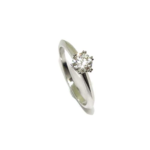 Never Say Never Solitario de Oro Blanco de 18k con Diamantes de Impresionante Calidad para tu sortija de pedida, sortija de Boda. (Oro Blanco, 0.45)