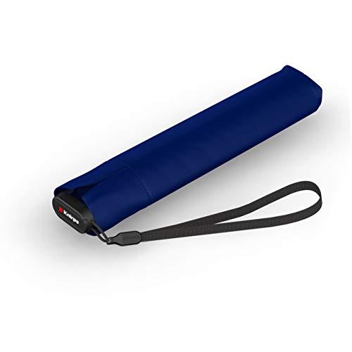 Knirps Taschenschirm Ultra US.050 Slim Manual – Ultra leicht und flach – Sturmfest – Windproof – 21 cm – Navy