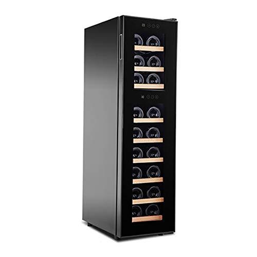 CLING Enfriador de Vino Refrigerador Compresor Enfriador Zonas de Temperatura Dual Partición Independiente Almacena hasta 18 Botellas Silencioso con Bajas Vibraciones Independiente o Empotrado