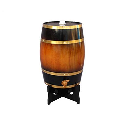 FMLFS Dispensador de Vino Barril Madera Tonel de Madera Barril de Whisky 10L, Barril de Vino Personalizado de Roble Decoración del Hogar Barril de Vino de Boda (Color : Vintage Yellow, Size : 10L)