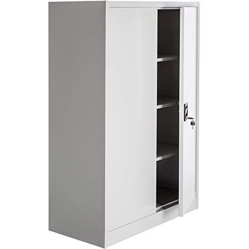 TecTake Aktenschrank mit Fächern | abschließbar | 2 Flügeltüren (140x90x40 cm | Nr. 402482)