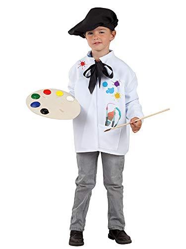DISBACANAL Disfraz de Pintor Infantil - -, 10 años