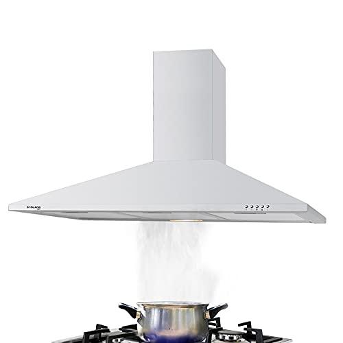 Gasland Chef PR90SP Campana Extractora de Cocina 3 Niveles de Potencia, Campana Extractora Decorativa 90cm 350m³/h, 2 W Iluminación LED de Cocina Negro