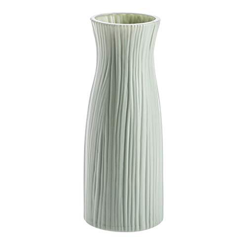 Canghai Rousa Blumenvase, Moderne Kunststoff Vase Blumentopf für Heimdekoration, Wohnzimmer, Tisch, Büro, Geschenke (Hellgrün)