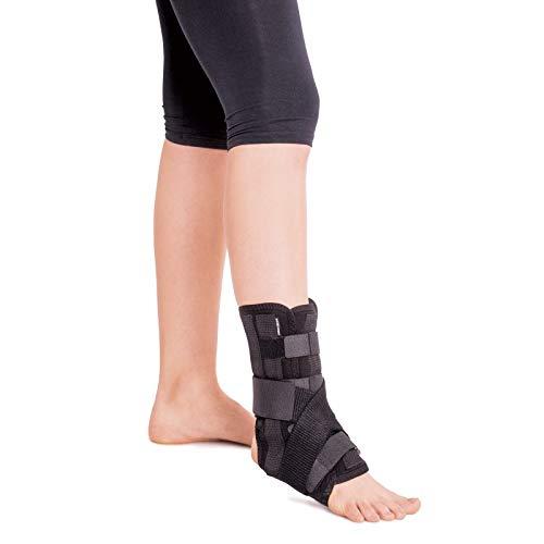 Cavigliera-Fascia Caviglia Regolabile-Tutore Piede-Tutore e supporto per caviglia e piede X-Small Nero
