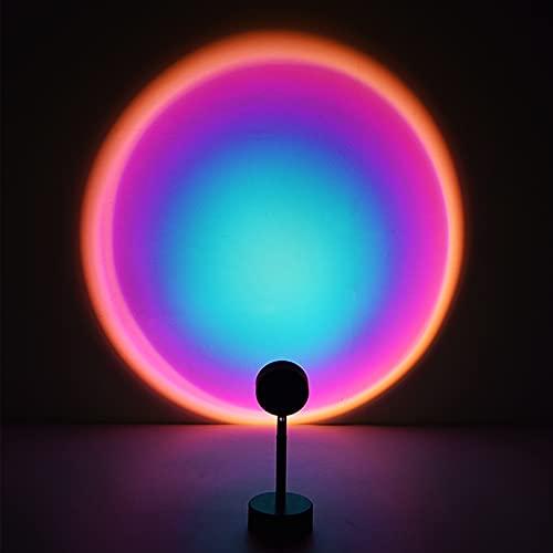 otutun Sunset Lamp , Sunset Projection Lamp rotación de 180 ° con USB , Lámpara de proyección de puesta de sol LED de ánimo visual romántico para crear Ambiente,Iluminación para Dormitorio (arcoíris)