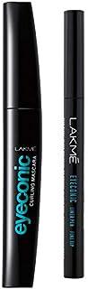 Lakmé Eyeconic Lash Curling Mascara, Black, 9ml And Lakmé Eyeconic Fine Tip Liner Pen, Black, 1ml
