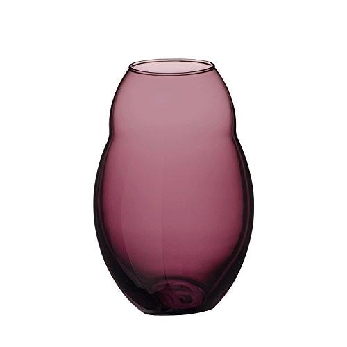 Villeroy & Boch Jolie Mauve vaso, decorazione da tavolo in vetro cristallo di alta qualità In Viola, 20 cm, in grigio Confezione Regalo, Porcellana, Bianco, 10 x 10 x 20 cm