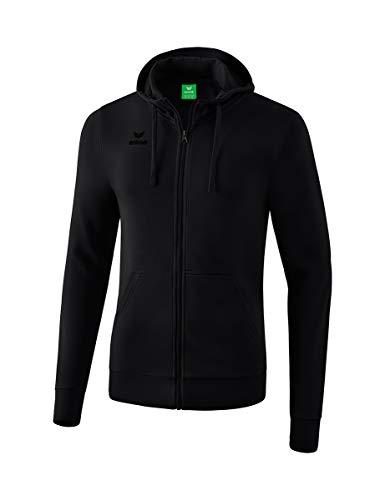 Erima Herren Basic Kapuzensweat Jacken, schwarz, XL