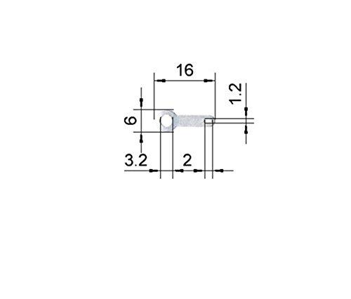 Lötösen verzinnt 16 mm mit Loch Ø 3,2 mm (100 Stück)