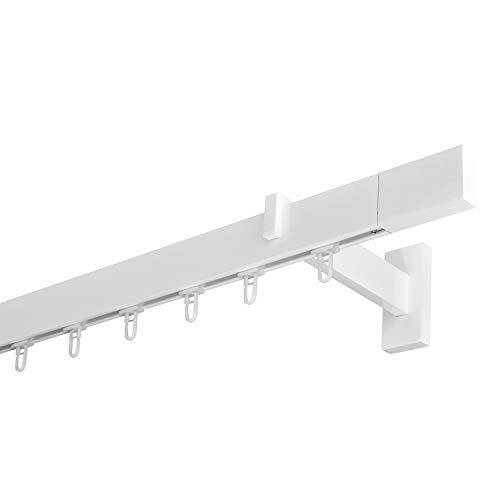Trendy-Home24 Gardinenstange Innenlauf 34/12mm 1-läufig in Weiß Aluminium 360