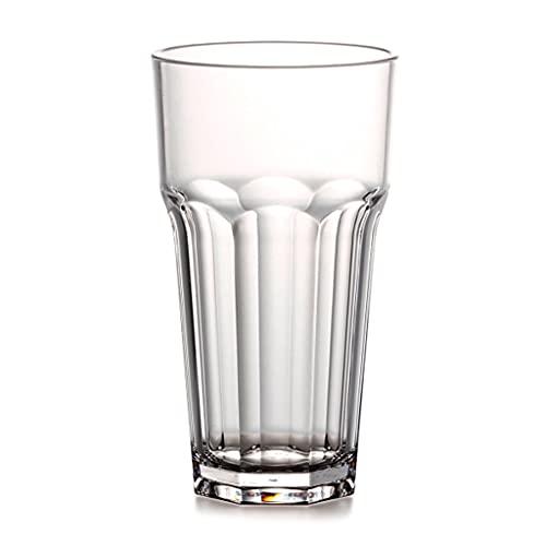 1 vasos de cerveza de plástico transparentes para bebidas resistentes a la rotura