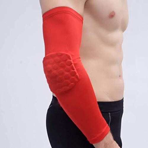 Chunjiao Guardamanos, armguards, 2 deportes de la aptitud de Lycra de nido de abeja codo prolongación recta del brazo extendido de baloncesto de alta elasticidad anticolisión en el brazo, deportes equ