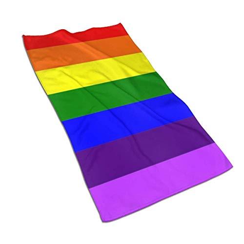 erjing Toalla Toalla de Mano S Pride Rainbow Flag Toalla de baño Fina, Toalla de baño pequeña Ultra Suave Altamente Absorbente Decoración de baño