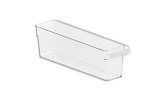Rotho Loft Kühlschrank Organizer, Kunststoff (SAN), transparent, Gr. S: 1,6 l (31 x 7,5 x 9 cm)