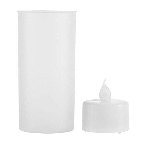 Nihlsen 1PC LED Rechargeable scented decorative tea light candle set Flameless Sound Sensor LED Candle velas candles ledLight bougeoir