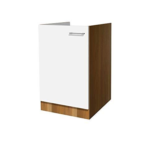 Flex-Well Küchen-Spülenschrank COSMO - Spülenunterschrank - 1-türig - Breite 50 cm - Weiß