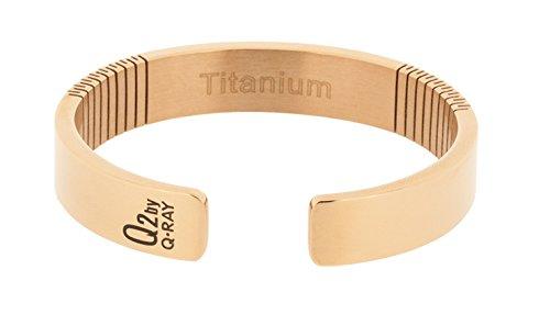 Lowest Prices! QRAY Rose Gold Titanium Golf Bracelet (Medium: 7~7.75)