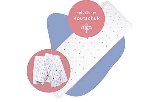 Rosenfeld Antirutsch Badewannenmatte extra lang 37x96cm I Matte für Badewanne und Dusche, geeignet für die Waschmaschine, rutschfest für Kinder und Erwachsene I natürlicher Kautschuk