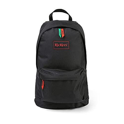 Kickers Canvas Backpack, Mochila Unisex Adulto, Negro, One Size