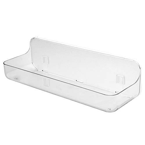 Estante de baño duradero para ahorrar espacio soporte para champú drenaje montado en la pared transparente cocina hogar almacenamiento estante ducha organizador stick on no perforación