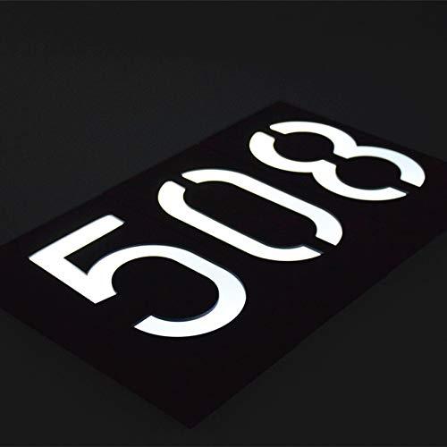 Huisnummer Solar Light Solar 6 verlichting deurplaat lamp huisnummer buitenverlichting porch verlichting met accu Number 2