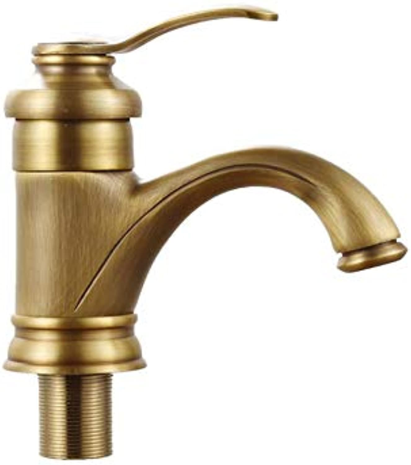 Pull Out The Pull Down Stainless Steeleuropean Style All Copper Antique Faucet Basin Basin Washbasin Faucet Basin Bathroom Hot and Cold Faucet