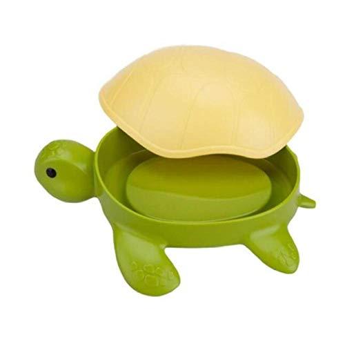 Rmbearmoni Seifenschale Bad Lustige Schildkröte Seifenschalen Seifenablage Container Dispenser Box Halter Mit Deckel Für Küche Bad Speicherorganisator Kinder Geschenk