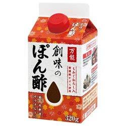 創味食品 創味のぽん酢 320g紙パック×6本入×(2ケース)