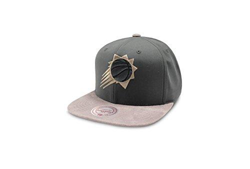 Mitchell & Ness Cap NBA Phoenix Suns Buttery Snapback Baseballmütze, Grau, Verstellbar, Neu,