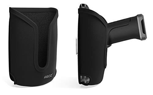 Agoz - Custodia per scanner di codici a barre per Zebra TC50, TC51, TC52, TC55, TC56, TC57, TC20, TC21, TC25, TC26, compatibile con il grilletto a presa manuale, custodia robusta con clip