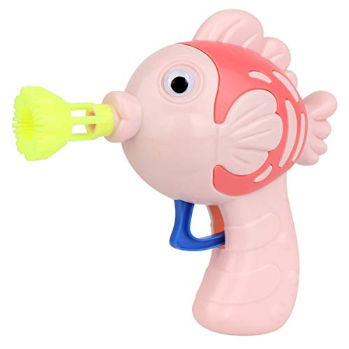ATATMOUNT Pistola de Agua de jabón de Pescado Lindo Pistola de Burbujas Soplador de Burbujas para niños Máquina de Juguete para niños Pistola de soplado Manual