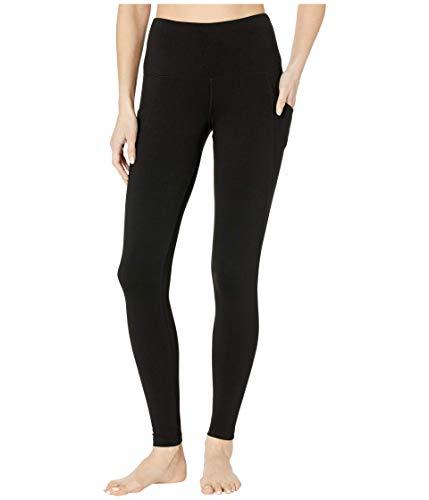 Jockey Women's Cotton Stretch Basic Ankle Legging with Side Pocket, Deep Black, Small