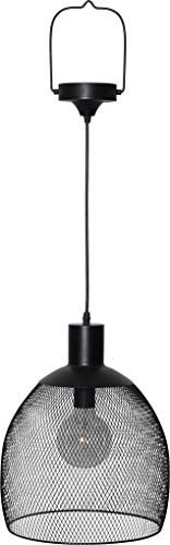 BestSeason LED Solar Lampe hängend schwarz 29x35cm 481-71 Outdoor für Garten Terrasse Balkon Hängeleuchte