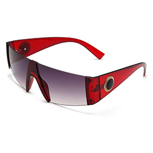 Mode heren vierkante zonnebril Merk sportbril Klassiek ontwerp Siamees spiegel Zonnebril Trendbril Randloze UV400