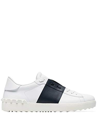 Valentino Luxury Fashion Garavani Herren RY0S0830BLUM15 Blau Leder Sneakers   Jahreszeit Permanent