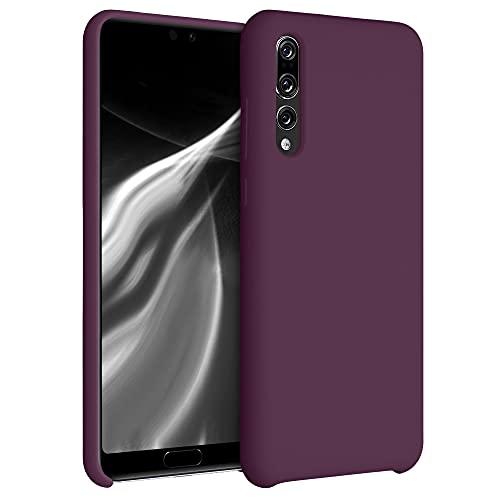 kwmobile Cover Compatibile con Huawei P20 PRO - Custodia in Silicone TPU - Back Case Protezione Cellulare Viola Bordeaux