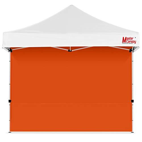 MasterCanopy - Gazebo istantaneo, pannelli laterali per gazebo da 3 x 3 m, 1 confezione (3 x 3 m, arancione)