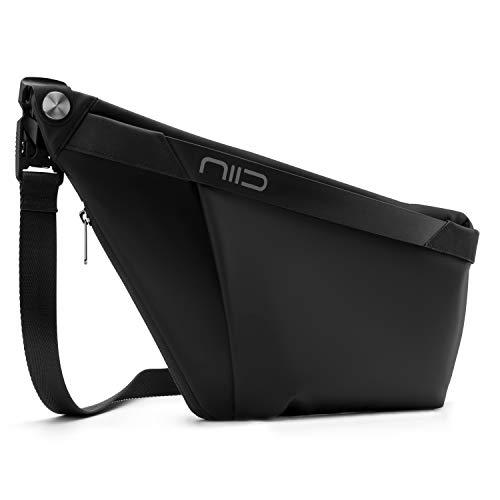 NIID-FINO F4 Sling Rucksack Schultertaschen Crossbody Brusttasche Herren für Herren Multipurpose Daypack Anti-Diebstahl & Wasserresistent